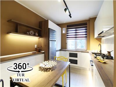 Apartament modern cu 2 camere, recent renovat, etaj 3, Gheorgheni